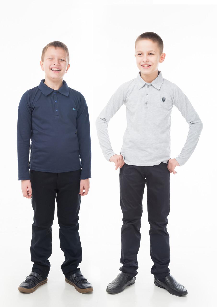 Брюки синие для мальчика р.128,134,140,146 SmileTime Fashion коттон, синие
