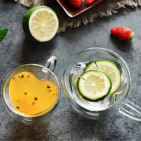 Чашка з подвійними стінками Серце 180 ml