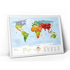 Скретч карта мира KIDS ANIMALS, фото 3