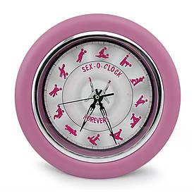 Настінні годинники Камасутра великі (рожевий)