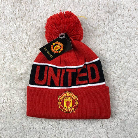 Мужская футбольная шапка Манчестер Юнайтед, красная, фото 2