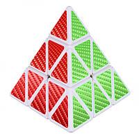 Кубик Рубика Пирамидка белая карбон
