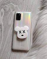 Попсокет Popsockets 3D держатель, подставка для телефона Мишка Bear brick белый