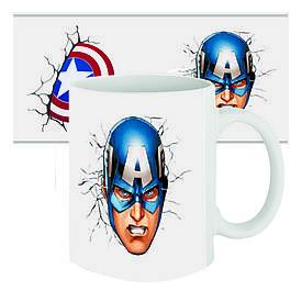 Чашка с принтом 63312 Капитан Америка