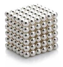 Неокуб NeoCube Цветной Серебро [5мм * 216 шариков] + Металлическая Коробка в Подарок