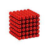 Неокуб NeoCube Цветной Красный [5мм * 216 шариков] + Металлическая Коробка в Подарок, фото 2