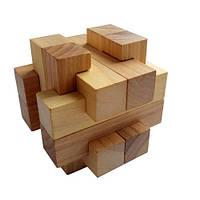 Деревянная головоломка Круть Верть Погремушка 8х8х8 см nevg-0049, КОД: 119425