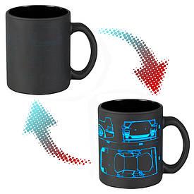 Чашка-хамелеон 66054 ЧРЖ Ferrari neon (чорна)