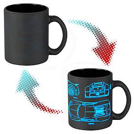 Чашка-хамелеон 66052 ЧРЖ Bugatti neon (чорна)
