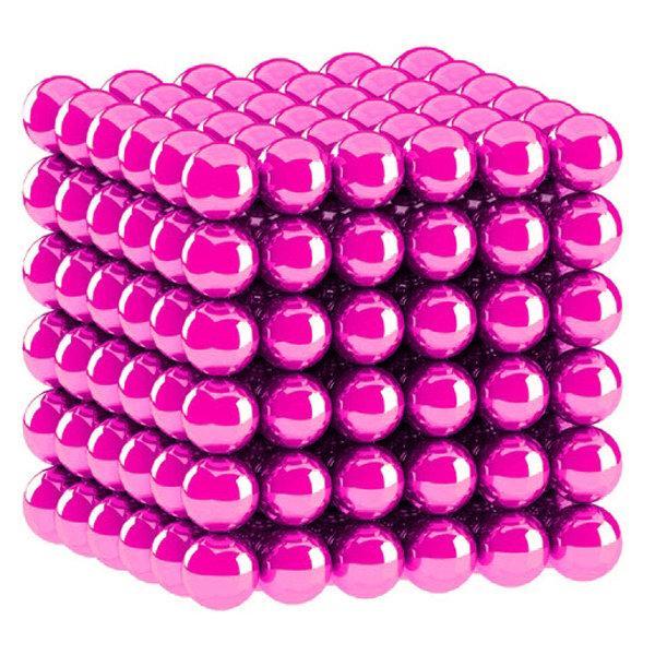 Неокуб NeoCube РОЗОВЫЙ [5мм * 216 шариков] + Металлическая Коробка в Подарок