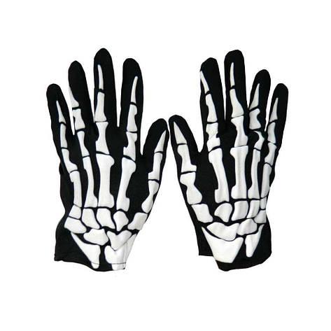Перчатки Скелета короткие, фото 2