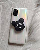 Попсокет Popsockets 3D держатель, подставка для телефона Мишка Bear brick черный