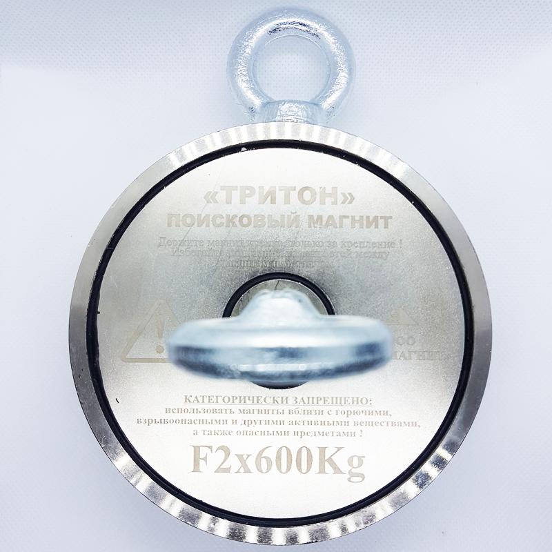 F-600х2 (800кг відрив) ТРИТОН + ТРОС в ПОДАРУНОК + БЕЗКОШТОВНА ДОСТАВКА Двосторонній ПОШУКОВИЙ МАГНІТ