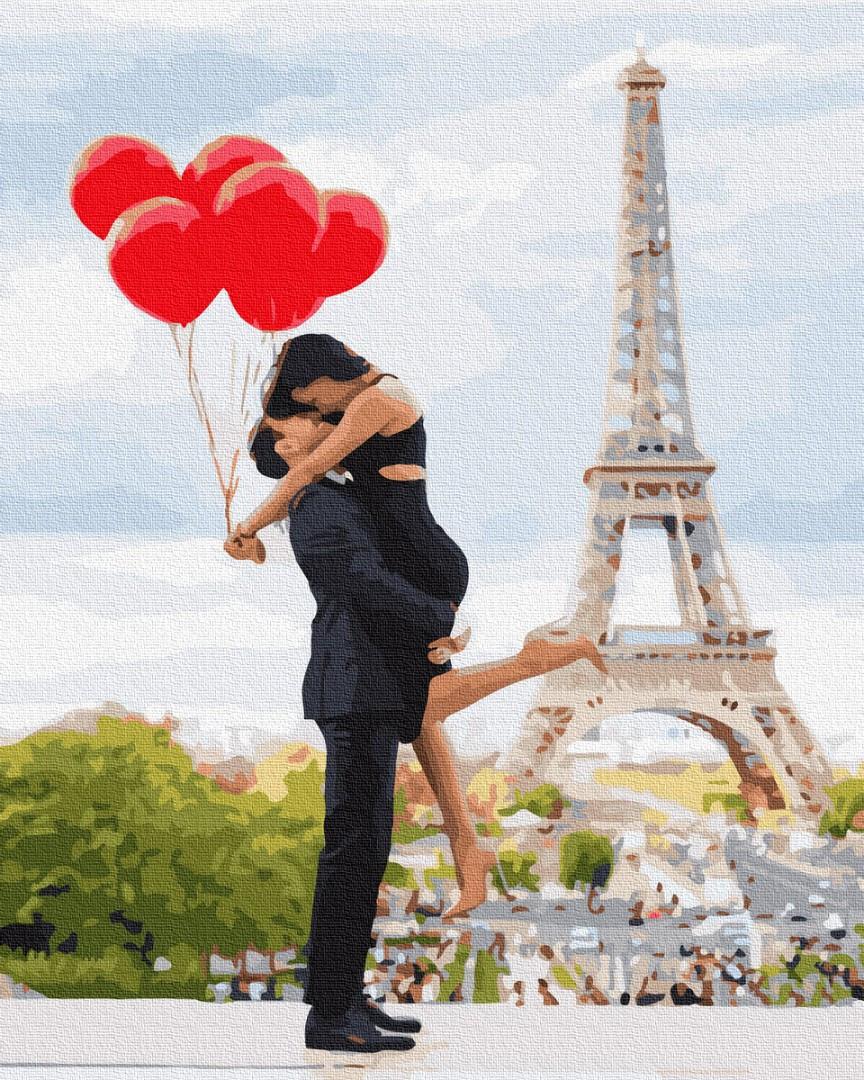 Картина по номерам Brushme Влюбленные в Париже