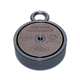 Поисковый магнит F-400х2 Пират двухсторонний + ТРОС 🎁, фото 3