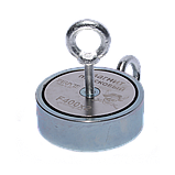 Поисковый магнит F-400х2 Пират двухсторонний + ТРОС 🎁, фото 4