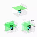 Лазерный уровень 3D DEKO LL12-HVG 12 линий + 2 АКБ * ЗЕЛЕНАЯ ЛИНИЯ *, фото 3