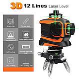 Лазерный уровень Prostormer 3D 12 линий ★ ЗЕЛЕНЫЙ ЛУЧ ★, фото 5