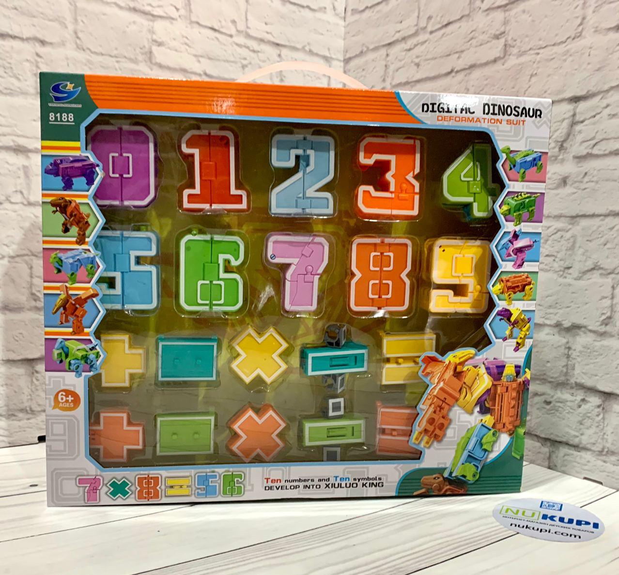 """Трансформер """"Digital Dinosaur"""" в коробке 8188"""