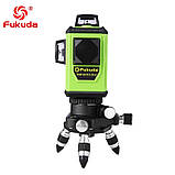 ➤ ЗЕЛЕНИЙ ПРОМІНЬ ➜ Лазерний рівень Fukuda MW-93T-3GJ 3D 12 ліній, фото 5