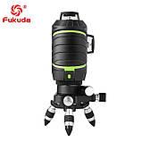 ➤ ЗЕЛЕНИЙ ПРОМІНЬ ➜ Лазерний рівень Fukuda MW-93T-3GJ 3D 12 ліній, фото 6
