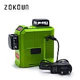 ♦ ЗЕЛЕНЫЙ ЛУЧ ♦ Лазерный уровень Zokoun 3D 12 линий, фото 3