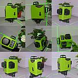 !ЗЕЛЕНЫЙ ЛУЧ! Лазерный уровень Muli (Xeast) 3D 12 линий, лазерний рівень, фото 3