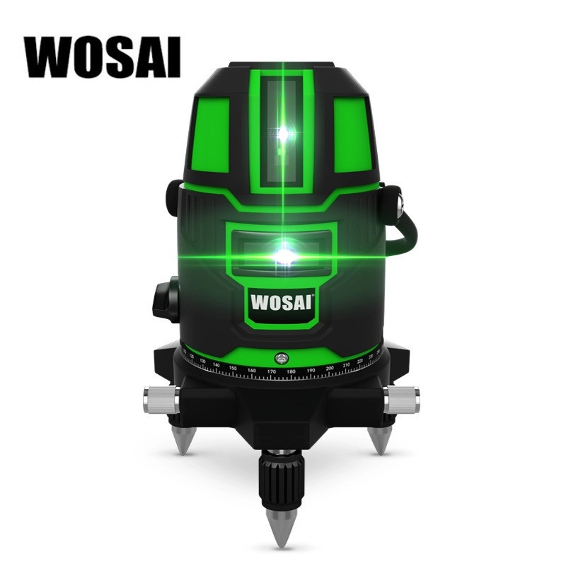 Лазерный уровень WOSAI WS-X5 5 линий 6 точек ЗЕЛЕНАЯ ЛИНИЯ нивелир