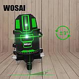 Лазерный уровень WOSAI WS-X5 5 линий 6 точек ЗЕЛЕНАЯ ЛИНИЯ нивелир, фото 5