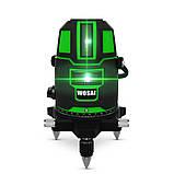Лазерный уровень WOSAI WS-X5 5 линий 6 точек ЗЕЛЕНАЯ ЛИНИЯ нивелир, фото 10