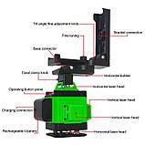 4D Лазерный уровень Puerci 4D 16 линий ➜ ПУЛЬТ ➜ Зеленые лучи ➜ ГАРАНТИЯ: 1 год, фото 8