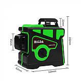Лазерный уровень Hilda 3D 12 линий + ТРЕНОГА ☀ ЗЕЛЕНЫЙ ЛУЧ ☀, фото 3