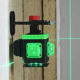 Лазерний рівень для ► СТЯЖКИ ПІДЛОГИ 3D 12 ліній Kaitian + ПУЛЬТ + КРОНШТЕЙН + АКБ 8 годин роботи KT-MG3D5SC, фото 2