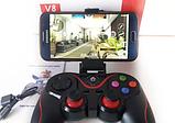 Беспроводной Bluetooth Геймпад V-8 Джойстик для ANDROID, iOS, PC - с держателем для смартфона в комплекте, фото 7