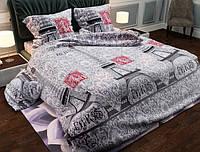Семейный набор хлопкового постельного белья из Бязи Gold 151995 Черешенка BC4G151995, КОД: 1891511