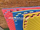 Коврики пазлы большие 100х100см, толщина 20мм, 1шт (сине-желтый цв.), фото 4
