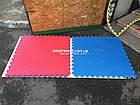 Коврики пазлы большие 100х100см, толщина 20мм, 1шт (сине-желтый цв.), фото 5