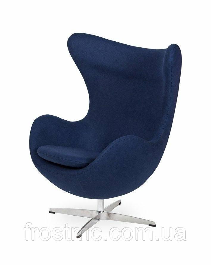 Дизайнерское кресло  EGG Replika - шерсть, сталева основа