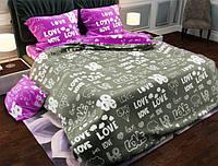 Семейный набор хлопкового постельного белья из Бязи Gold 15727AB Черешенка BC4G15727AB, КОД: 1891513