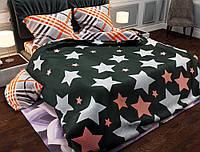 Семейный набор хлопкового постельного белья Черешенка из Бязи Gold 151105AB, КОД: 2401037