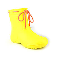 Сапоги женские резиновые EVA Jose Amorales с шнуровкой 40 р Желтый joa1192105, КОД: 2374707