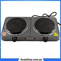 Електроплита DOMOTEC MS-5822 дискова подвійна - настільна електрична плита на дві конфорки (2000 Вт), фото 2