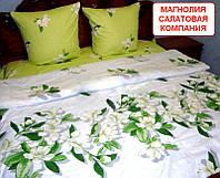 Двоспальний комплект постільної білизни - Магнолія салатова компанія