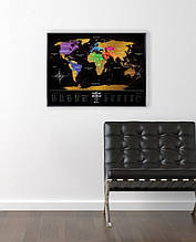 Скретч карта мира 1DEA.me Travel Map of the World Black BW, КОД: 2432899