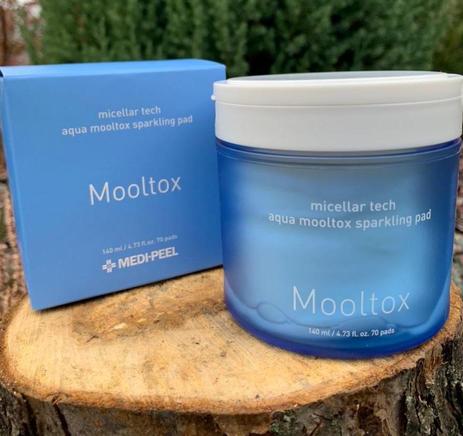 Увлажняющие пилинг-пэды Medi Peel Aqua Mool Tox Sparkling Pad