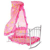 Кроватка для кукол Melogo Розовый 9349, КОД: 1332188