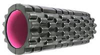 Массажный ролик Power System Fitness Foam Roller PS-4050 Черно-розовый, КОД: 1299228