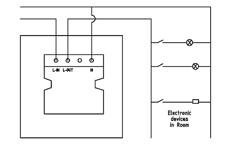 Енергозберігаючий кишеня для готелів SEVEN LOCK P-7751 black, фото 2