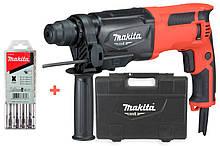 Перфоратор Makita M8701 + кейс + набор буров 5 шт M8701X, КОД: 2403041