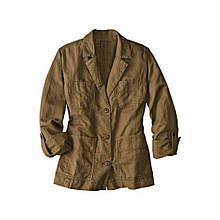Куртка Eddie Bauer Womens Jacket Linen BROWN M Светло-коричневый 7114375BR, КОД: 1164763